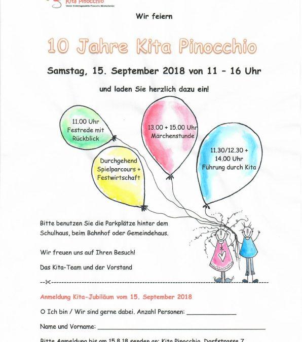 10 Jahre Kita Pinocchio